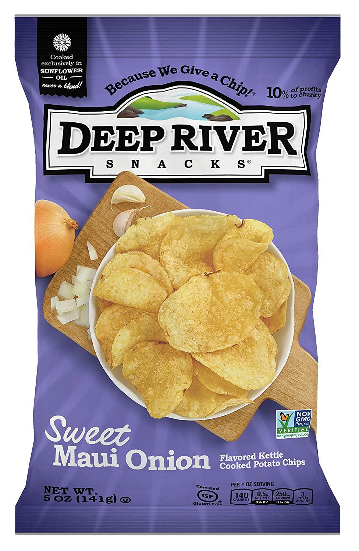 Deep River Snacks Sweet Maui Onion Potato Chips