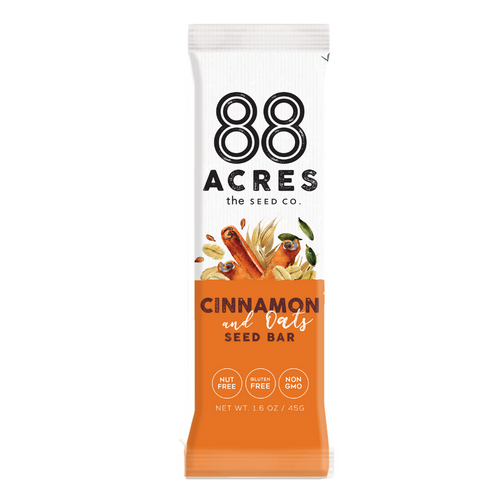 88 Acres- Oats N Cinnamon Seed Bar
