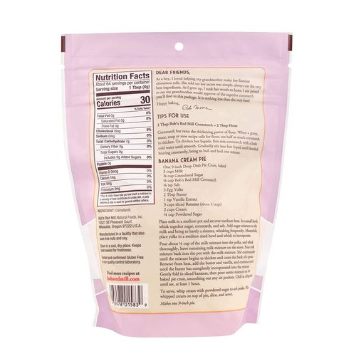 Bob's Red Mill- Premium Quality Cornstarch