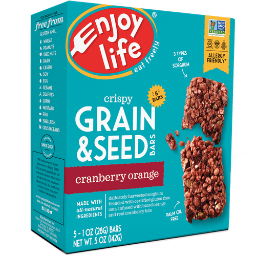 Enjoy Life- Cranberry Orange Grain and Seed Bars