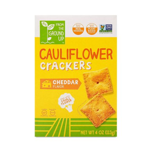 From the Ground Up- Cheddar Cauliflower Crackers