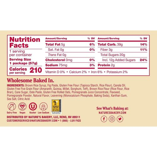 Nature's Bakery- Gluten Free Pomegranate Fig Bar