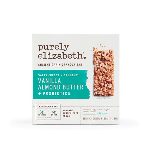 Purely Elizabeth- Vanilla Almond Butter Ancient Grain Granola Bar +Probiotics