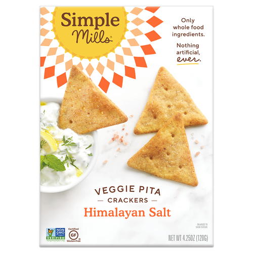 Simple Mills- Himalayan Salt Veggie Pita Crackers