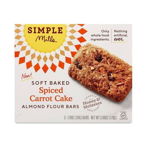 Simple Mills- Spiced Carrot Cake Soft Baked Bars