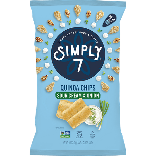 Simply 7- Sourcream & Onion Quinoa Chips
