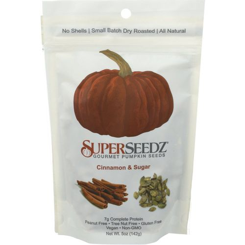 Super Seedz- Cinnamon and Sugar Gourmet Pumpkin Seeds