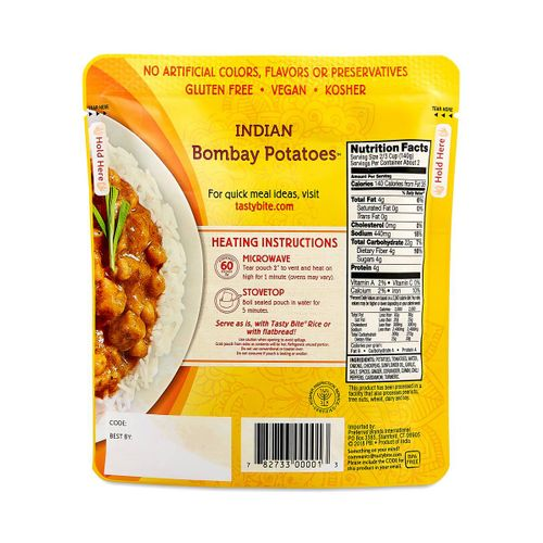 Tasty Bite- Indian Bombay Potatoes