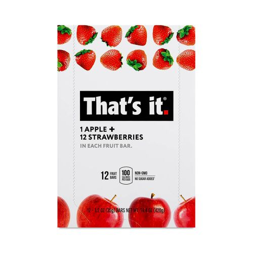 That's It- Apple and Strawberry Fruit Bar