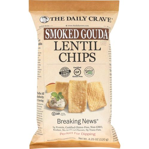 The Daily Crave- Smoked Gouda Lentil Chips
